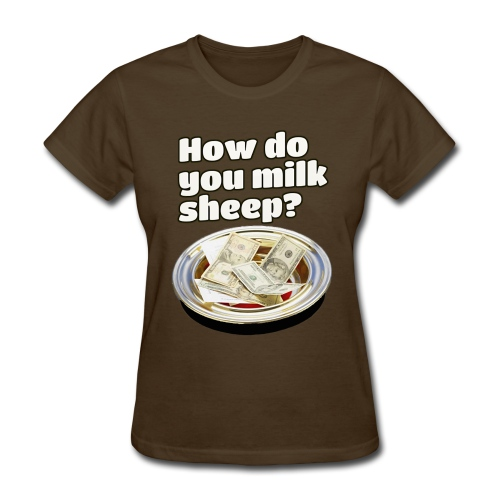 How to milk sheep (women's tee) - Women's T-Shirt