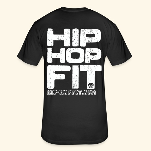 Hip-Hop Fit (Black & Red) - Fitted Cotton/Poly T-Shirt by Next Level