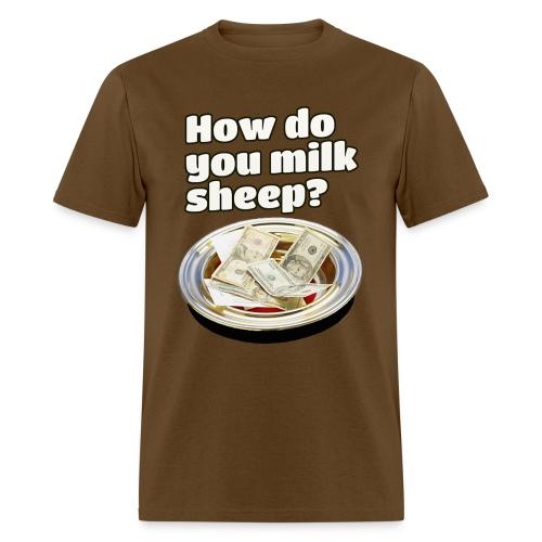 How to milk sheep (men's tee) - Men's T-Shirt