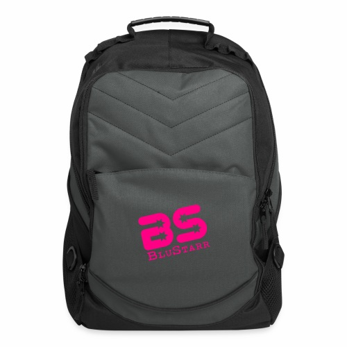 Computer Backpack w/Neon Pink Logo - Computer Backpack