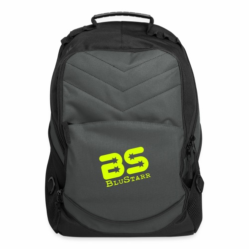 Computer Backpack w/Neon Green Logo - Computer Backpack