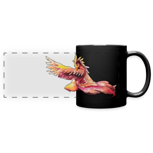 Mythical Space Phoenix - Full Color Panoramic Mug