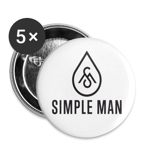 Simple Man Logo Button - Buttons large 2.2'' (5-pack)