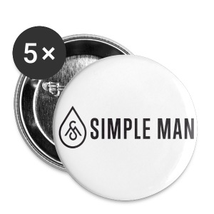 Horizontal Simple Man Logo Button - Large Buttons