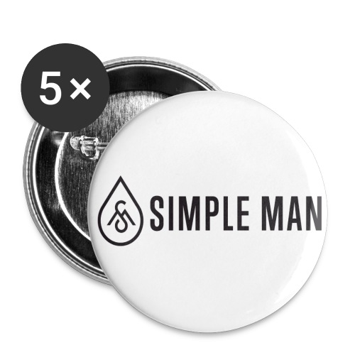 Horizontal Simple Man Logo Button - Buttons large 2.2'' (5-pack)