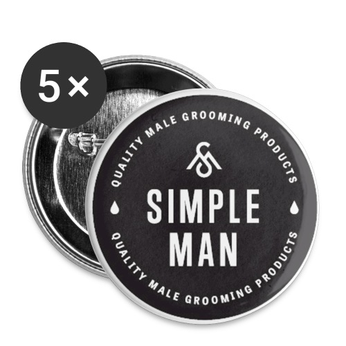 Simple Man Seal Button - Buttons large 2.2'' (5-pack)
