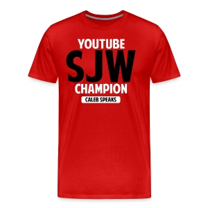 YouTube SJW Champ Tee (Alternative Colors)  - Men's Premium T-Shirt