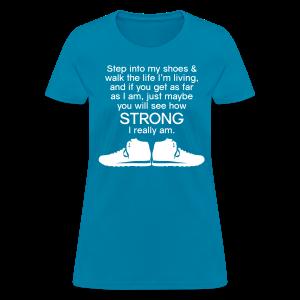 Step Into My Shoes (Tennis Shoes) - Women's T-Shirt - Women's T-Shirt