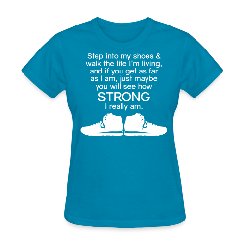 Step Into My Shoes (Tennis Shoes) - Women's T-Shirt - Women's T-Shirt