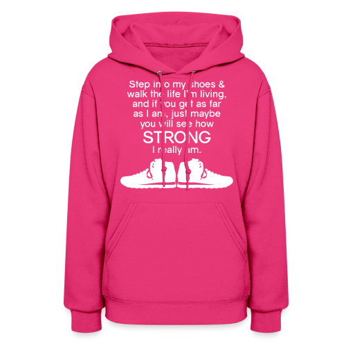 Step Into My Shoes (Tennis Shoes) - Women's Hoodie - Women's Hoodie