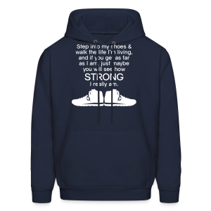 Step Into My Shoes (Tennis Shoes) - Men's Hoodie - Men's Hoodie