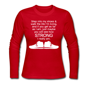 Step Into My Shoes (Tennis Shoes) - Women's Long Sleeve - Women's Long Sleeve Jersey T-Shirt