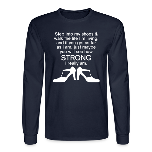 Step Into My Shoes (High Heels) - Men's Long Sleeve - Men's Long Sleeve T-Shirt