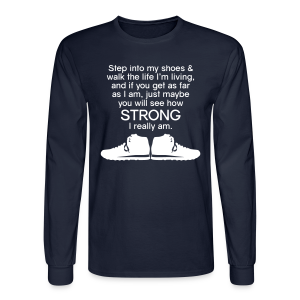 Step Into My Shoes (Tennis Shoes) - Men's Long Sleeve - Men's Long Sleeve T-Shirt