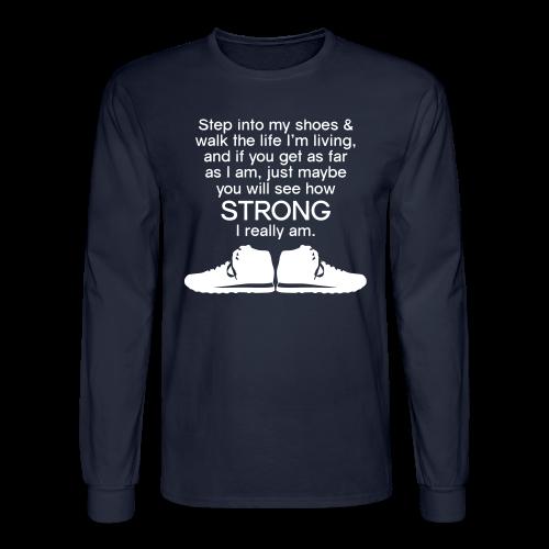 Step Into My Shoes (Tennis Shoes) - Men's Long Sleeve - Men's Long Sleeve T-Shirt