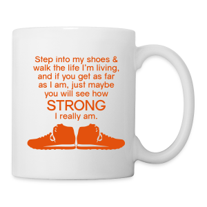 Step Into My Shoes (Tennis Shoes) - Ceramic Mug - Coffee/Tea Mug