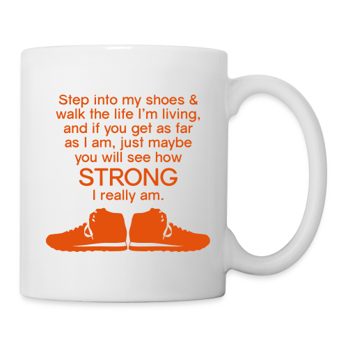 Step Into My Shoes (Tennis Shoes) - Ceramic Mug - Coffee/Tea Mug