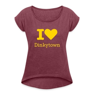 I heart Dinkytown Women's T-shirt - Women's Roll Cuff T-Shirt