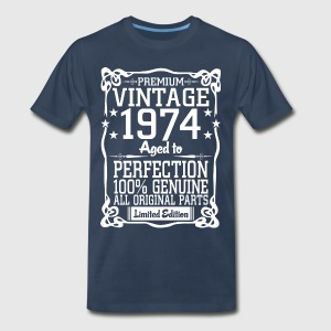 Premium Vintage 1974 Aged To Perfection 100% Genui T-Shirts - Men's Premium T-Shirt