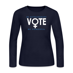 She Votes - Women's Long Sleeve Jersey T-Shirt