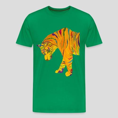 Contemplative Tiger men's t-shirt - Men's Premium T-Shirt