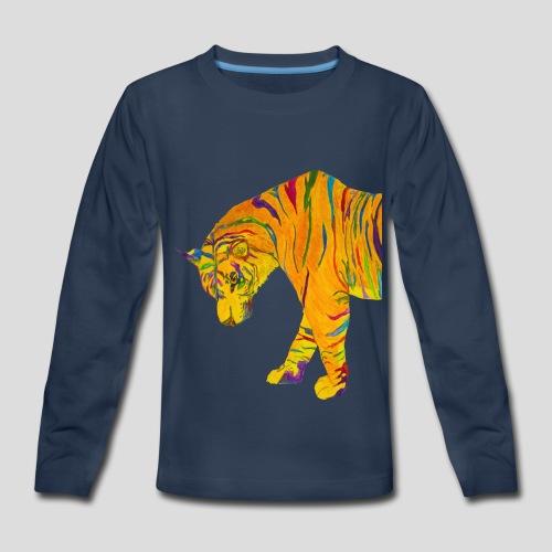 Contemplative Tiger kid's long sleeve t-shirt - Kids' Premium Long Sleeve T-Shirt