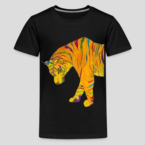 Contemplative Tiger men's t-shirt - Kids' Premium T-Shirt