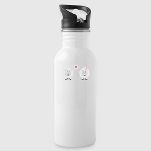 Sheeps in love with heart U7b4v Sportswear - Water Bottle