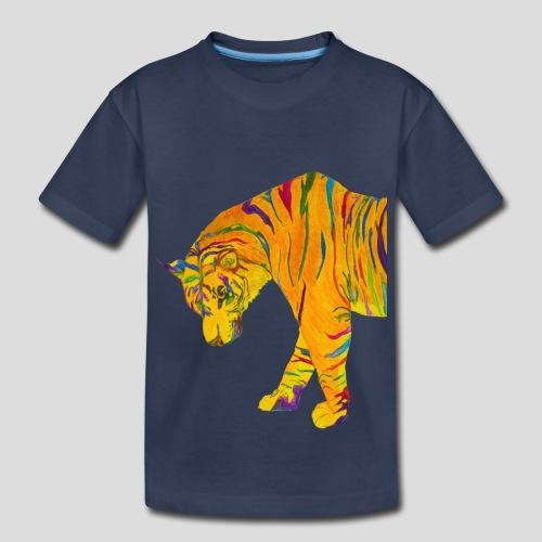 Contemplative Tiger kid's t-shirt - Kids' Premium T-Shirt