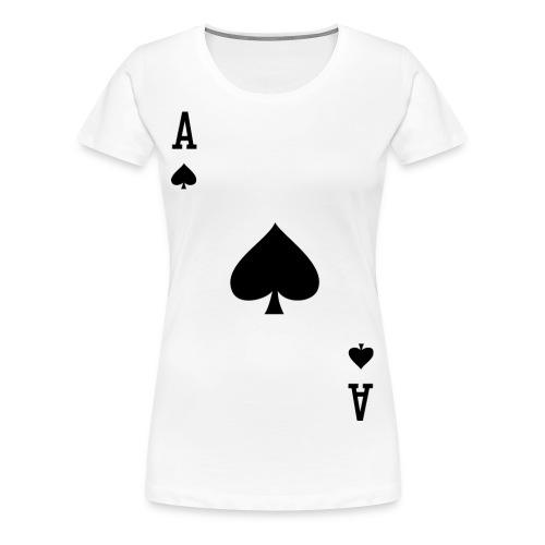Ace of Spades - Women's White - Women's Premium T-Shirt
