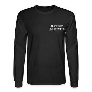 D Troop ORIGINALS with Wings on Back WHITE Letters - Men's Long Sleeve T-Shirt