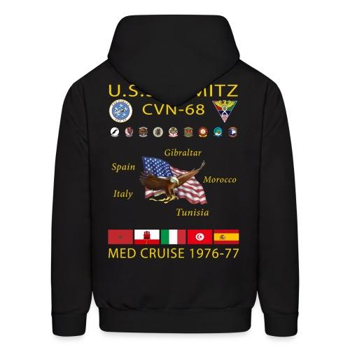 USS NIMITZ CVN-68 MED CRUISE 1976-77 HOODIE - Men's Hoodie