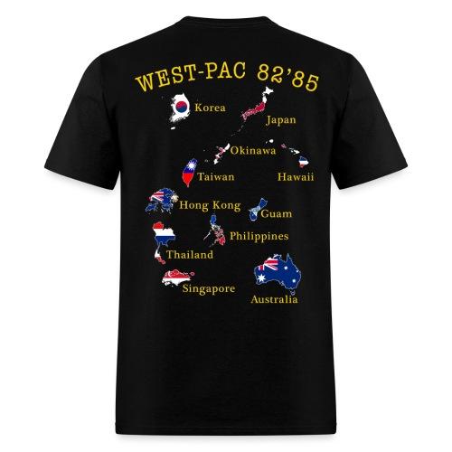 USS MIDWAY CV-41 1982-85 CUSTOM CRUISE SHIRT - Men's T-Shirt