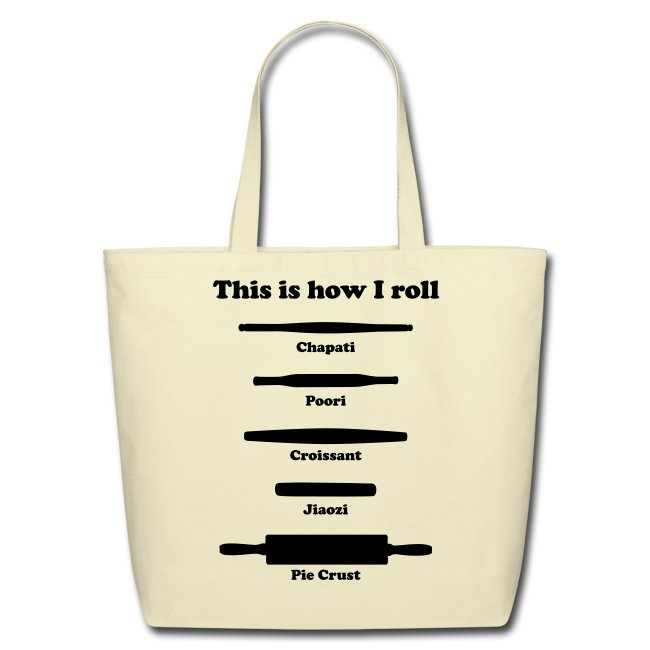 This is how I roll (tote bag)