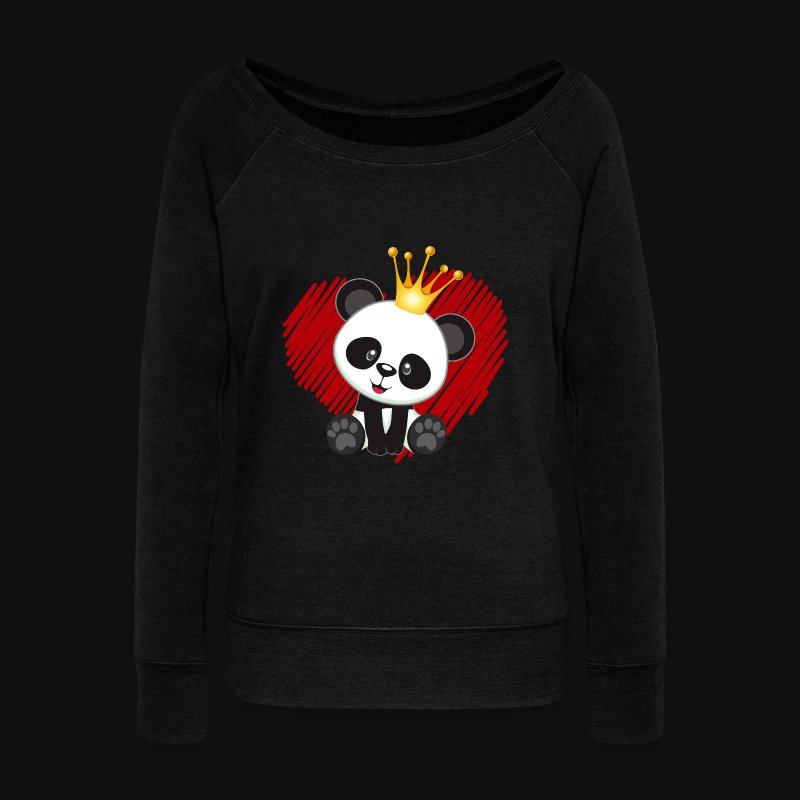 cute panda love - Women's Wideneck Sweatshirt