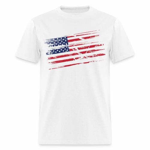 Flag Tee White 2 sided print - Men's T-Shirt