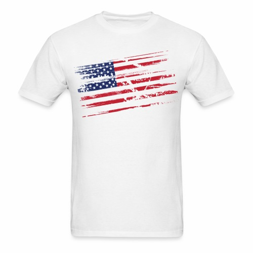 Flag Tee White 2 sided print - Men's T-Shirt