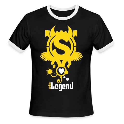 SUPERLEGEND MAN - front print velvet - s/xxl - Men's Ringer T-Shirt