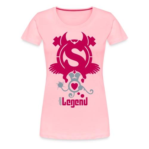 SUPERLEGEND WOMAN - front print - s/xxl - multi colors - Women's Premium T-Shirt