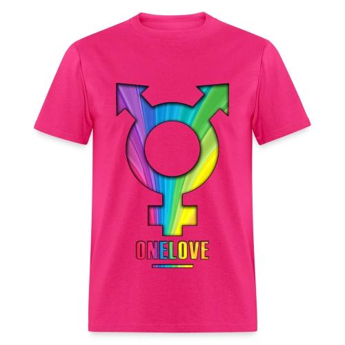 ONELOVE RAINBOW MALE - front print - s/3xl - multi colors - Men's T-Shirt