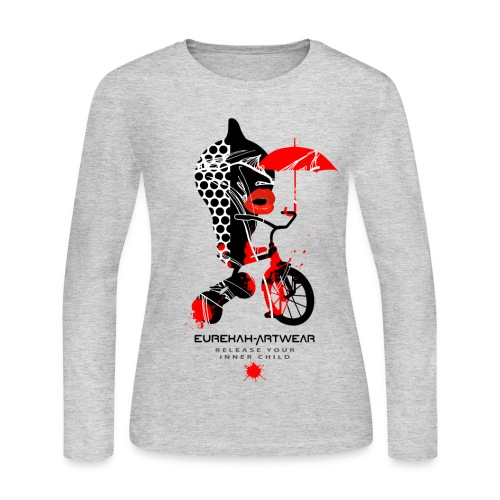 RELEASE YOUR INNER CHILD - front print - s/xxl - Women's Long Sleeve Jersey T-Shirt