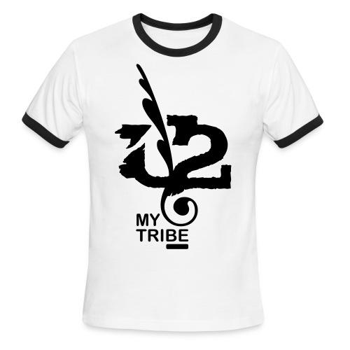 U+2=MY TRIBE - front print - s/xxl - Men's Ringer T-Shirt