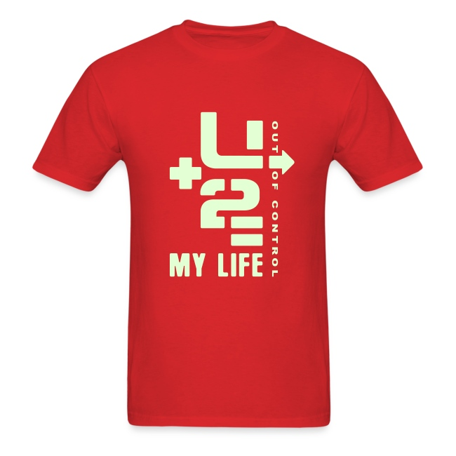 U+2=MY LIFE - front print glow - s/3xl - multi colors