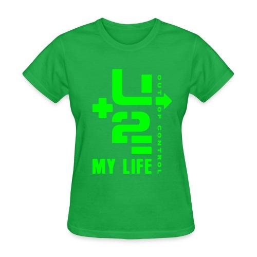 U+2=MY LIFE - front print neon - s/xxl - Women's T-Shirt