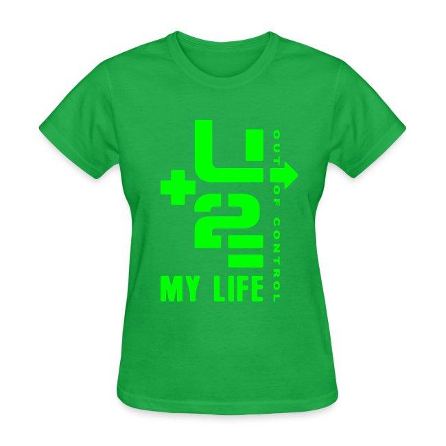 U+2=MY LIFE - front print neon - s/xxl