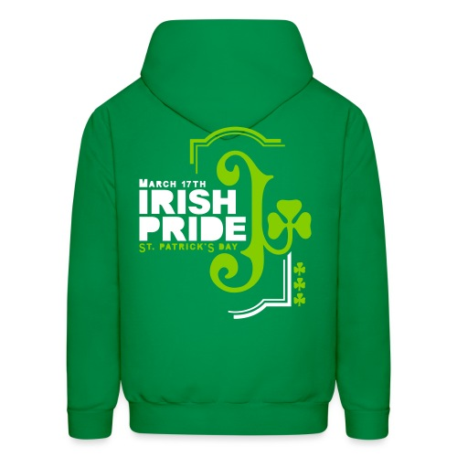 IRISH PRIDE - back print - s/xl - Men's Hoodie