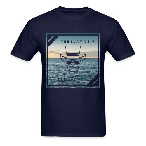TheLlamaSir Men's Full Print T-shirt : navy - Men's T-Shirt