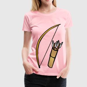 Bow and quiver - Women's Premium T-Shirt