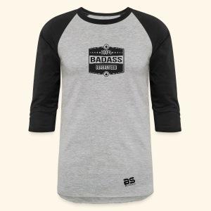 Women's Premium Long Sleeve T-Shirt Grey/Black 3/4 sleeves - Baseball T-Shirt