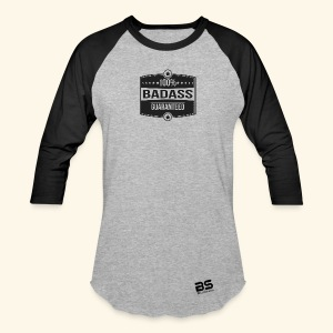Women's Premium Long Sleeve T-Shirt Grey/Black 3/4 sleeves - Baseball T-Shirt